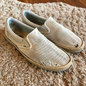 Vans Espadrilles Mesh Slip On Sneakers Shoes